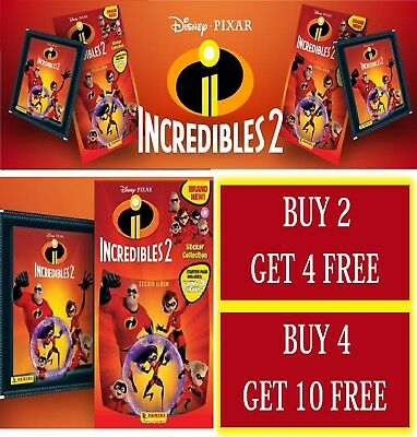 Panini Disney Pixar Incredibles 2 Sticker Collection Choose your number #1 - 192