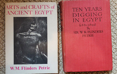2 Flinders Petrie Books about archaeology in Egypt