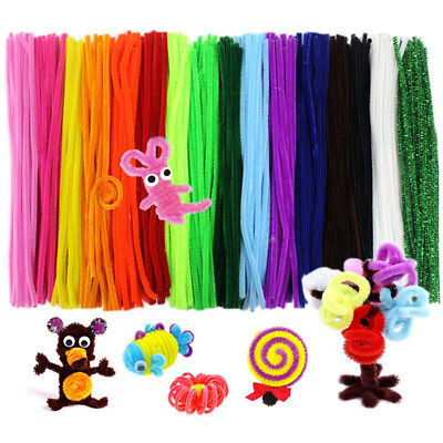 100PCS Chenille Stems Pipe Cleaners 5MM Children Kids Plush Educational Toy