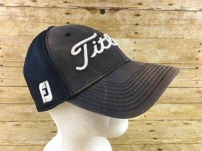 Titleist #1 FootJoy Pro V1 Hat Worn Faded Mesh Fitted Small-Medium New Era