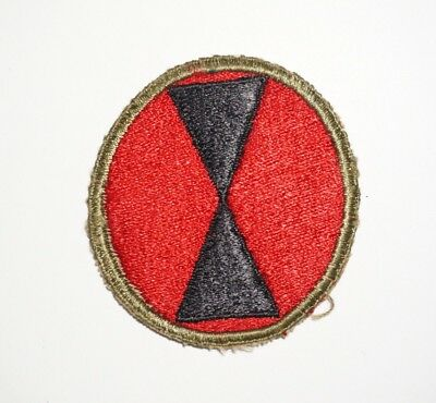 7th Infantry Division Patch WWII US Army P7612