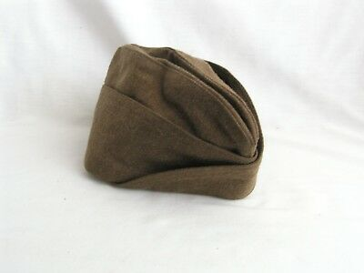 WWII / WW2 U.S. Army Enlisted Man's O.D. Wool Garrison Cap, Dated 1946, Size 7 ¼