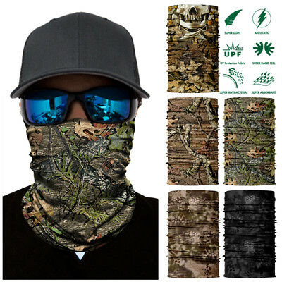 2PCS UV Face Shield Sun Mask Neck Gaiter 3D Jungle Scarf Headwear Balaclava AU