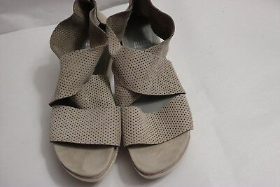 87cf835c65373 B-372 Eileen Fisher Perforated Sport Platform Sandal Leather Size 9 1 2 M