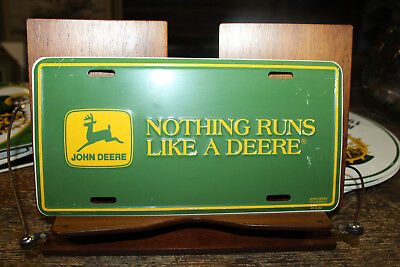 John Deere Metal License Plate Nothing Runs Like  A Deere