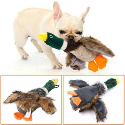 For Dog Toy Play Funny Pet Puppy Chew Squeaker Squeaky Plush Sound Duck Toys
