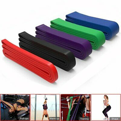 Fitness Resistance Bands Exercise Heavy Duty Tube Home Gym Premium Natural Latex