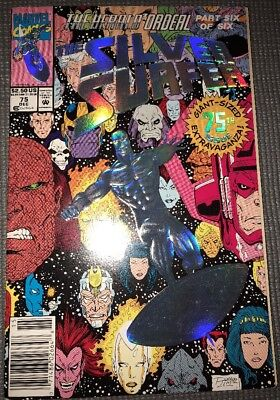 Marvel Comics The Silver Surfer #75 Giant Sized Embossed Foil Cover - Dec 1992