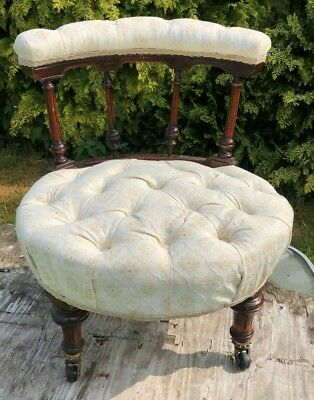 Beautiful Antique Vintage Old Victorian Nursery Chair *