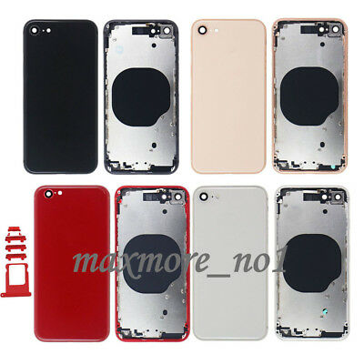 For iPhone 8 8 Plus Housing Metal Frame Battery Cover Rear Glass Back Door +Logo