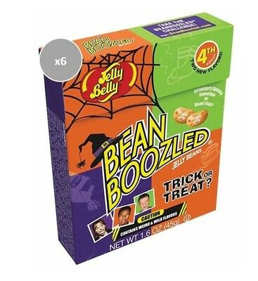 913339.6 6X 45G Boxes Of Bean Boozled Trick Or Treat Jelly Beans Halloween