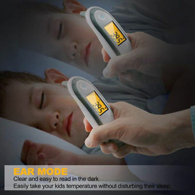 Protable Digital LED Infrared Thermometer Ear&Forehead For Family Baby Kids Rks