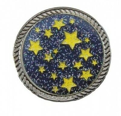 Navika KICKS CANDY Starry Night Glitzy Ball Marker with Round Shoe Ornament