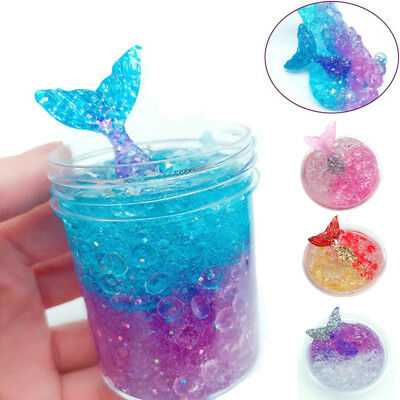 120ml Multicolor Mermaid Crystal Slime Clay Squeeze Reduce Stress Child Toy 2018