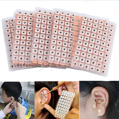 600pcs Disposable Ear CLess Seeds Acupuncture Vaccaria Plaster Bean MassagePB