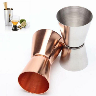1/2X Stainless Steel Double Single Shot Measure Jigger Spirit Cocktail Drink Cup