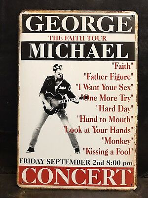 George Michael Faith Tourconcert Poster Vintage Retro Style Metal Sign  20X30 Cm