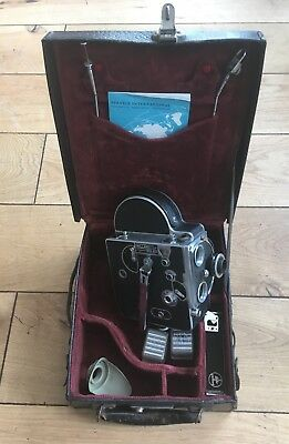 Bolex H16 16mm Movie Camera with Lens and Case