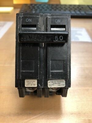 Ge General Electric Hacr Thql2150 Circuit Breaker 2 Pole  50 Amp 120/240 Vac