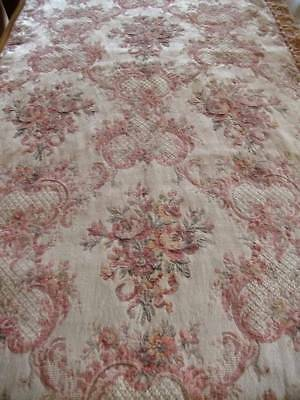 Antique Tapestry Panel French Chateau Pink  Regency Design c 1889/ 1900