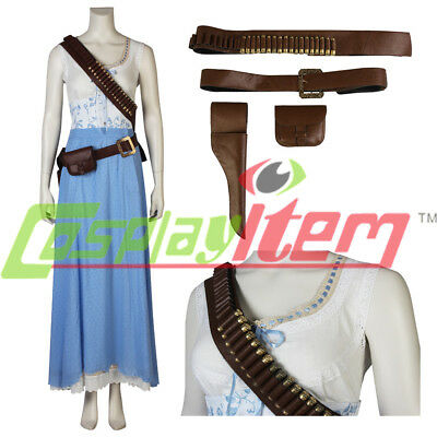 Hot! Westworld Dolores Abernathy Blue Dresses Cosplay Costume Woman Dress MM.958