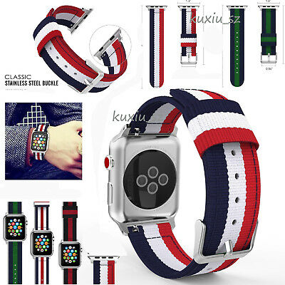 Genuine Woven Nylon Sports Strap Band for Apple Watch iWatch Serie 4/3/2 38/42mm
