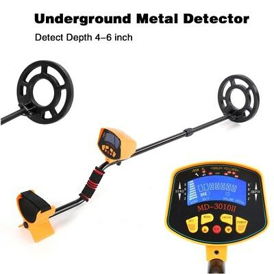 Metal Detector LCD Deep Target Power Coils Finder Treasure Hunting Waterproof A