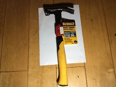 DeWalt High Velocity Hammer 12oz - strikes with the force of a 20oz