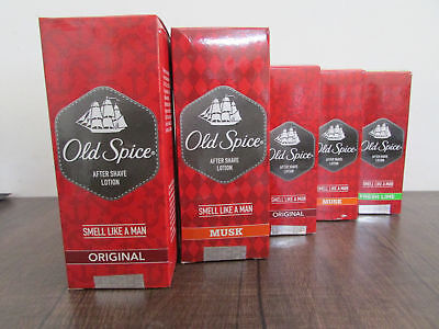 Old Spice After Shave Lotion | Original Musk Lime 50ml 100ml 150ml Glass Bottle