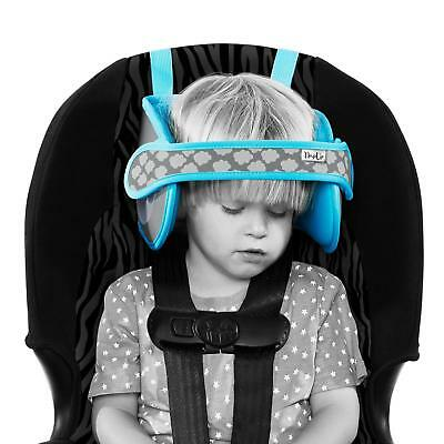 Child Car Seat Head Support - A Comfortable Safe Sleep Solution (Blue) By NapUp