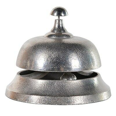Hotel bell Extra Large Silver Metal Bell , Aluminium Service Bell