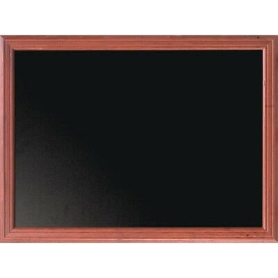 Securit Wall Mounted Blackboard 1000 x 800mm In Mahogany For Chalk Markers