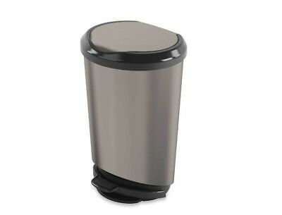 Step On Trash Can Lightweight Polypropylene Indoor Home Kitchen Pantry 40 Gallon
