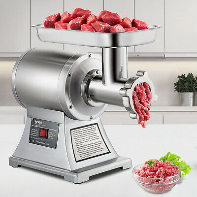 Commercial 1.5HP Electric Meat Grinder 1100W Stainless Steel Meat Mincer
