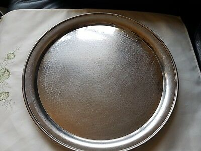 Olde Hall Stainless Steel Round Tray 35.5cm Across