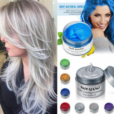 Mofajang 7 Colors Disposable Hair Color Wax Mud Dye Styling Cream DIY Coloring