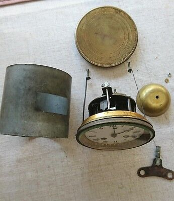 Antique French Clock Movement With All The Parts