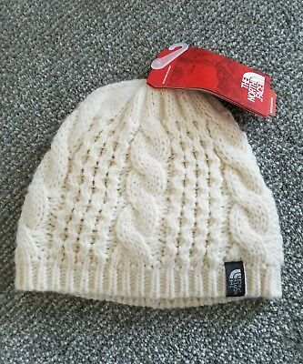 1cd62297e7c North Face Women s Beanie Hat Knit Cable Minna One Size Vintage White