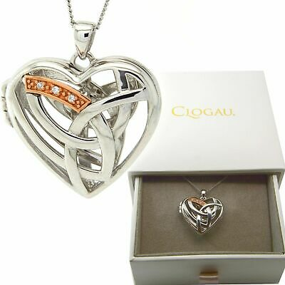 Clogau Silver Rose Welsh Gold Large Eternal Love Heart Pendant Free Gift Wrap