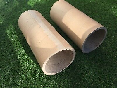 Large Heavy Duty Cardboard Tubes X 2, 32cm long x 13.5cm, Shipping, Art, Craft