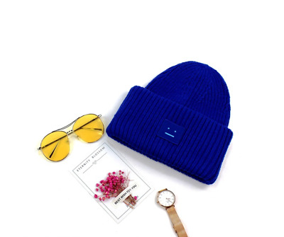 acne studios Blue smile cap wool cap men and women couple warm hat acne 7981 b2056f4ab43