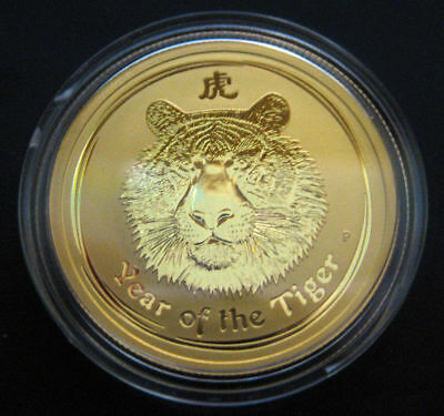 2010 Australian 1/2 oz Gold Lunar Year of the Tiger Coin Perth Mint EXPRESS Post