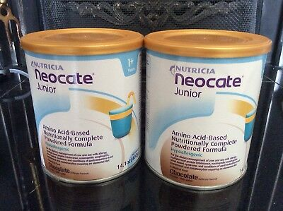 Nutricia Neocate Junior Chocolate Flavour Amino Acid Formula for Milk Allergy x2