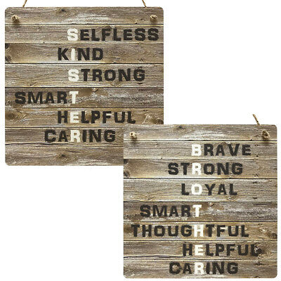 Brother Sister Gift Wooden Style Rustic Meaning Plaque Sis Bro MDF Sibling Sign