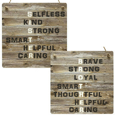Sister Gifts Brother Gift Wooden MDF Rustic Meaning Plaque Sis Bro Sibling Signs