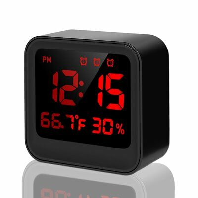 LED Alarm Clock, Bedside Alarm Clock with USB Cable, Brightness Adjusted by Time