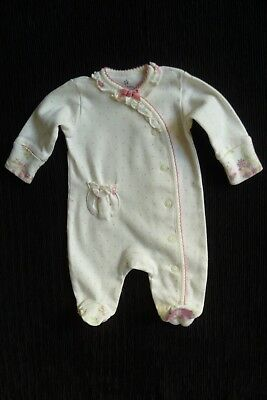 Baby clothes GIRL premature/tiny<7.5lb/3.4kg NEXT cream/pink babygrow SEE SHOP!