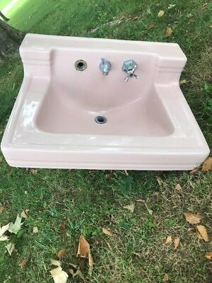 "Vintage ""Standard"" Pale Pink Bathroom Sink Near Cleveland Ohio"