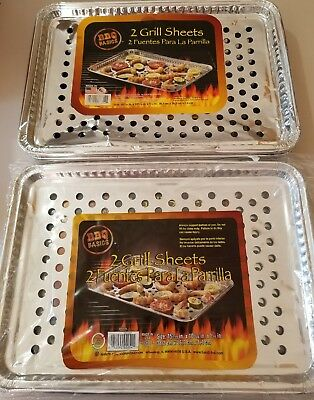 "14PK Handi-Foil 15"" x 10"" Aluminum Foil BBQ Grill Topper Pan -Disposable Sheets"