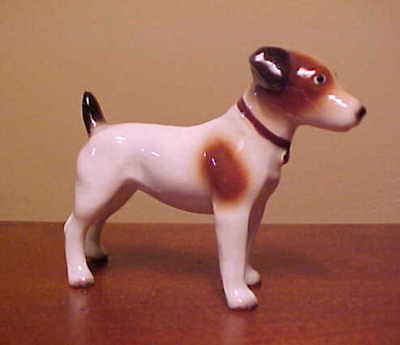 Hagen-Renaker Mini 3255 JACK RUSSELL TERRIER Miniature Ceramic Dog Figurine FLAW